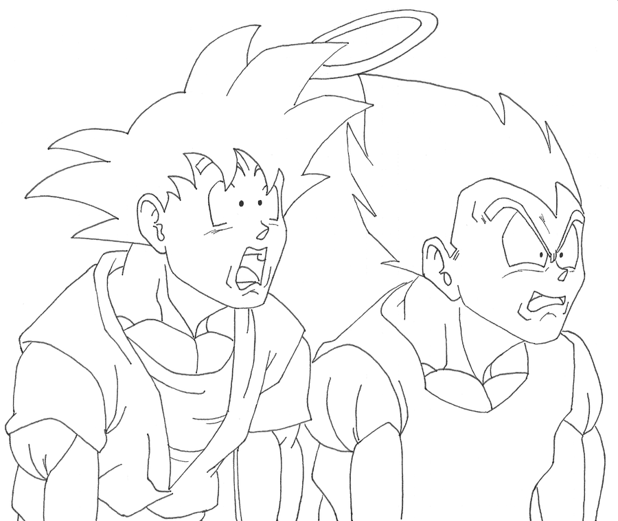 Goku vs vegeta drawing at free for for Dragon ball z vegeta coloring pages