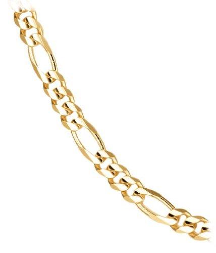 428x500 Men's 14k Yellow Gold 4.9mm Italian Figaro Chain Necklace, 18
