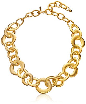 329x395 Kenneth Jay Lane Satin Gold Chain Link Necklace, 22