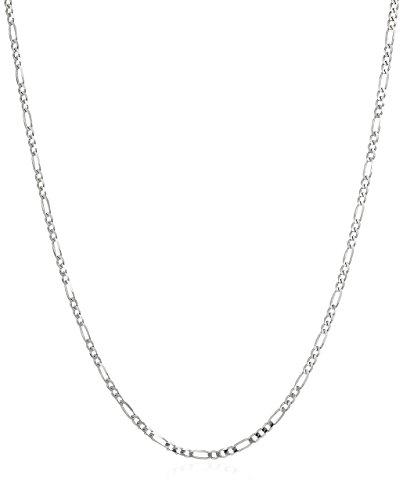 403x500 Men's 14k White Gold 2.2mm Figaro Chain Necklace, 20