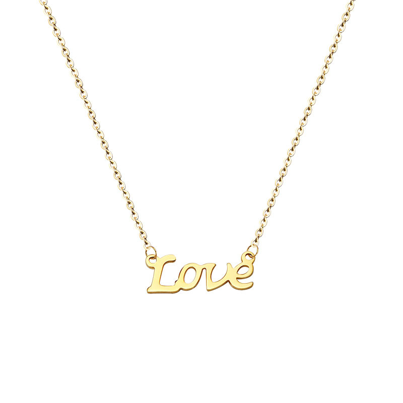 800x800 Custom Gold L O V E Name Necklace,personalized Name Necklace
