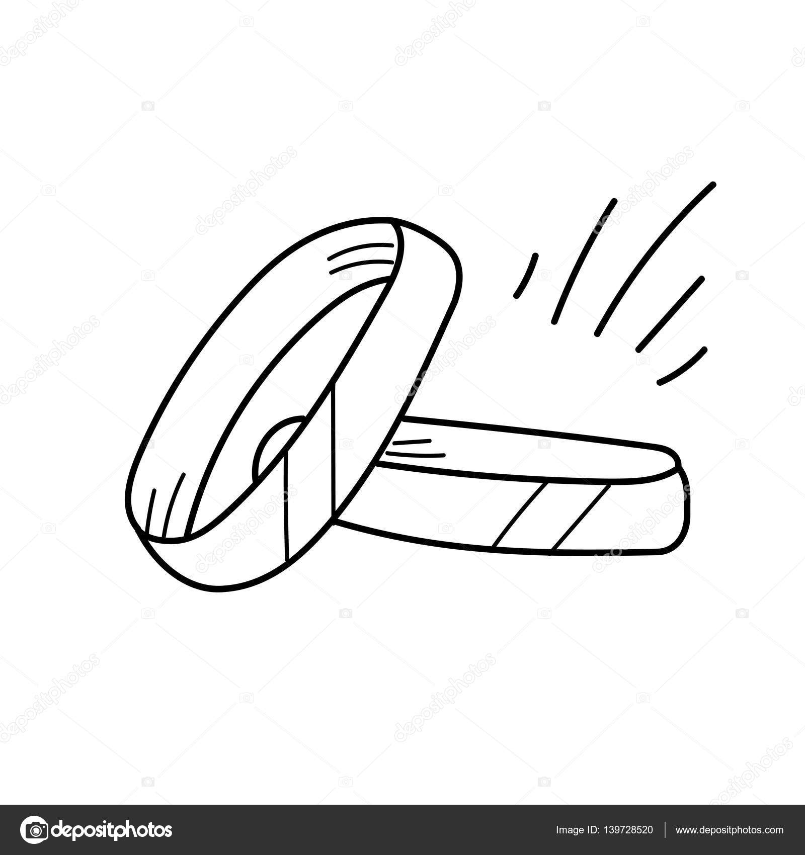 1600x1700 Freehand Drawing Gold Ring Illustration Stock Photo