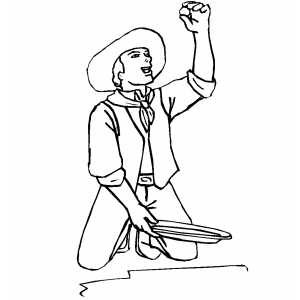 300x300 Panning For Gold Coloring Page
