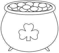 236x212 Pot Of Gold Coloring Page