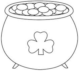 300x269 Pot Of Gold Coloring Page To Tiny Print Us Coins Pages Photo27