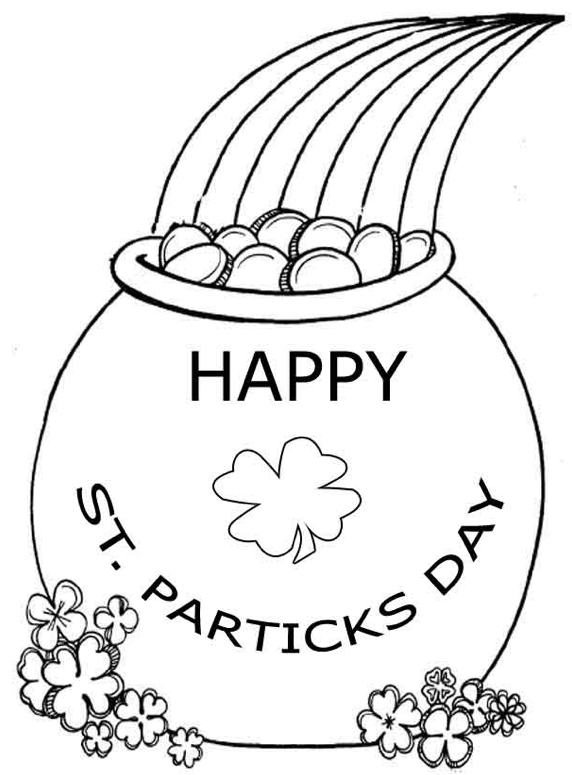 572x775 Pot Of Gold Coloring Page Amp Coloring Book