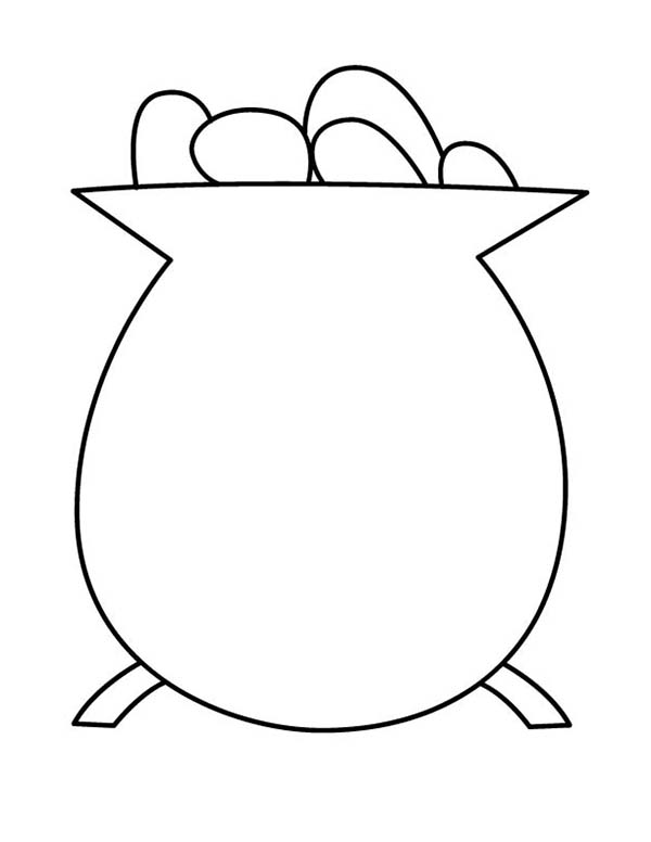 600x776 Simple Drawing Of Pot Of Gold Coloring Page