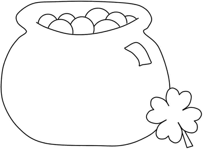848x625 Free Printable Pot Of Gold Coloring Pages