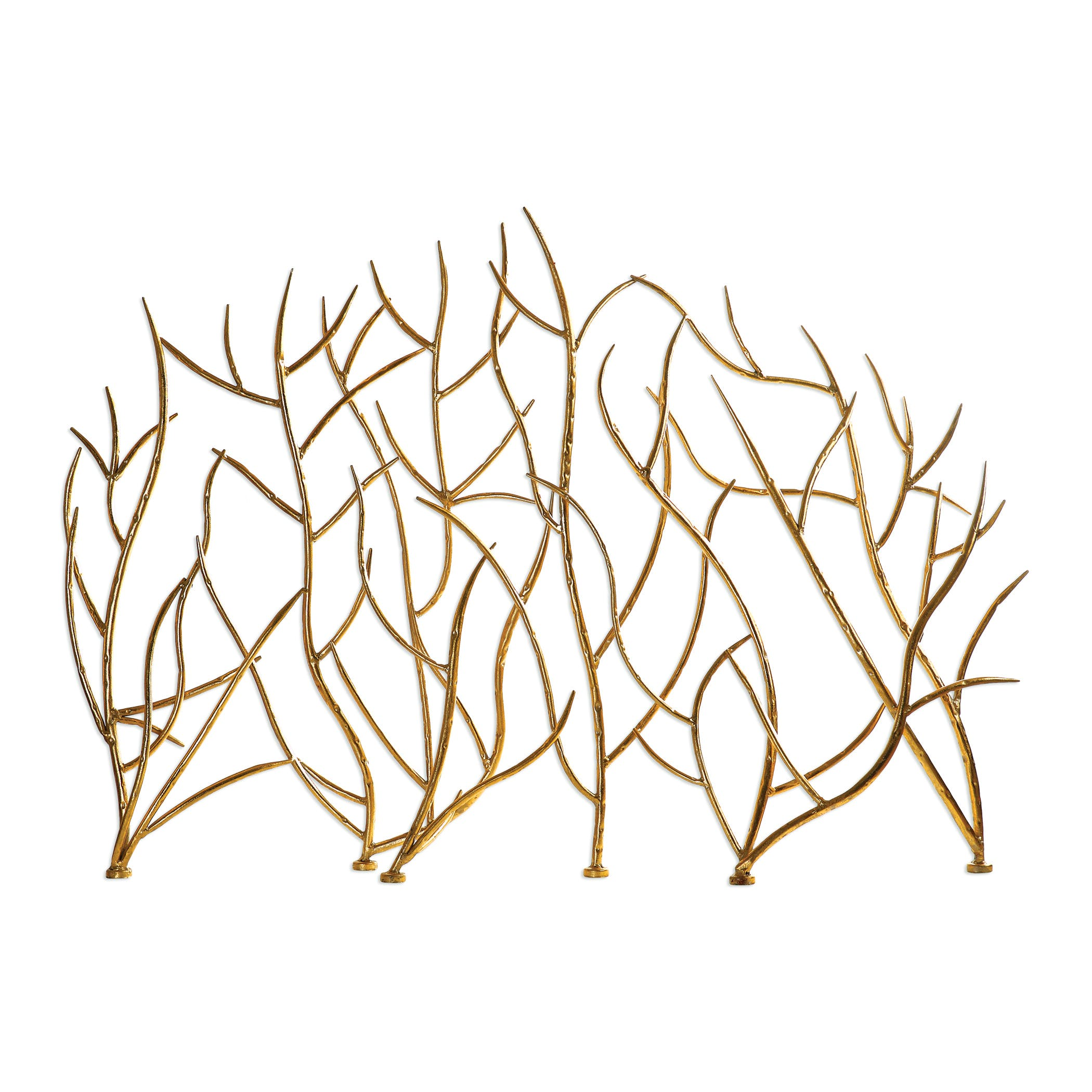 2100x2100 Gold Branches Decorative Fireplace Screen 18796