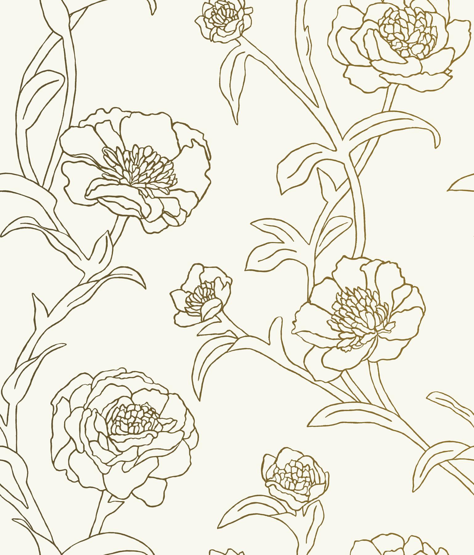 1538x1800 Hello Tempaper Peonies In Gold Leaf! Meet Peonies