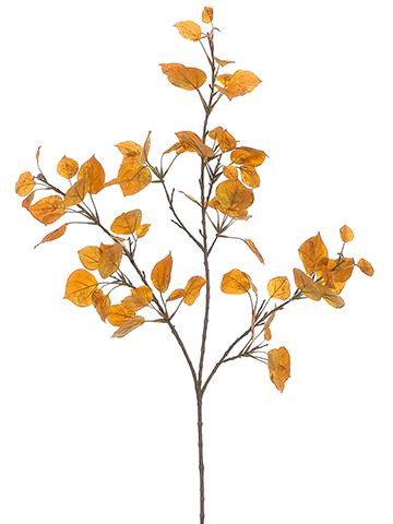 360x480 Artificial Aspen Leaf Spray In Yellow Gold