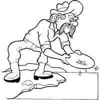 200x200 Gold Mining Coloring Pages