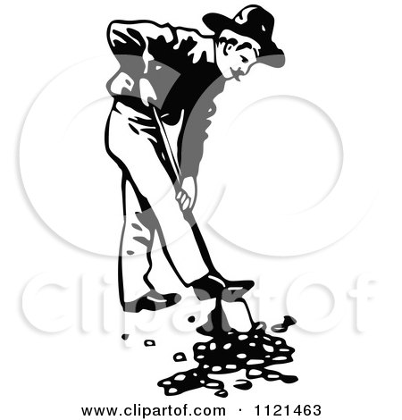 450x470 Clipart Black And White Man Panning For Gold