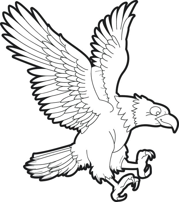 622x700 Eagle Coloring Pages Joandco.co