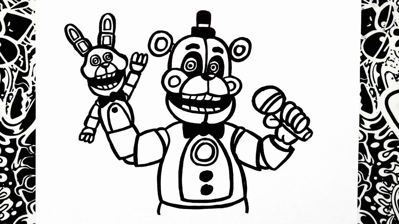 1280x720 como dibujar a funtime freddy how to draw funtime freddy five - Five Nights At Freddys Coloring Book