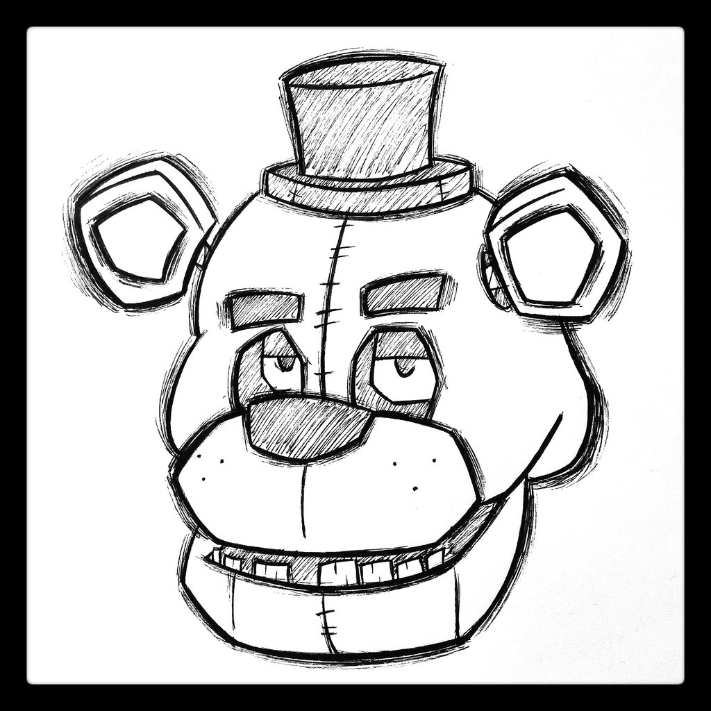 Golden Freddy Drawing at GetDrawings com | Free for personal