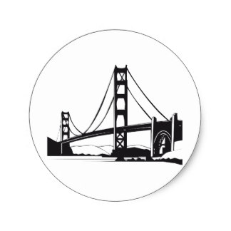 324x324 Golden Gate Bridge Stickers Zazzle