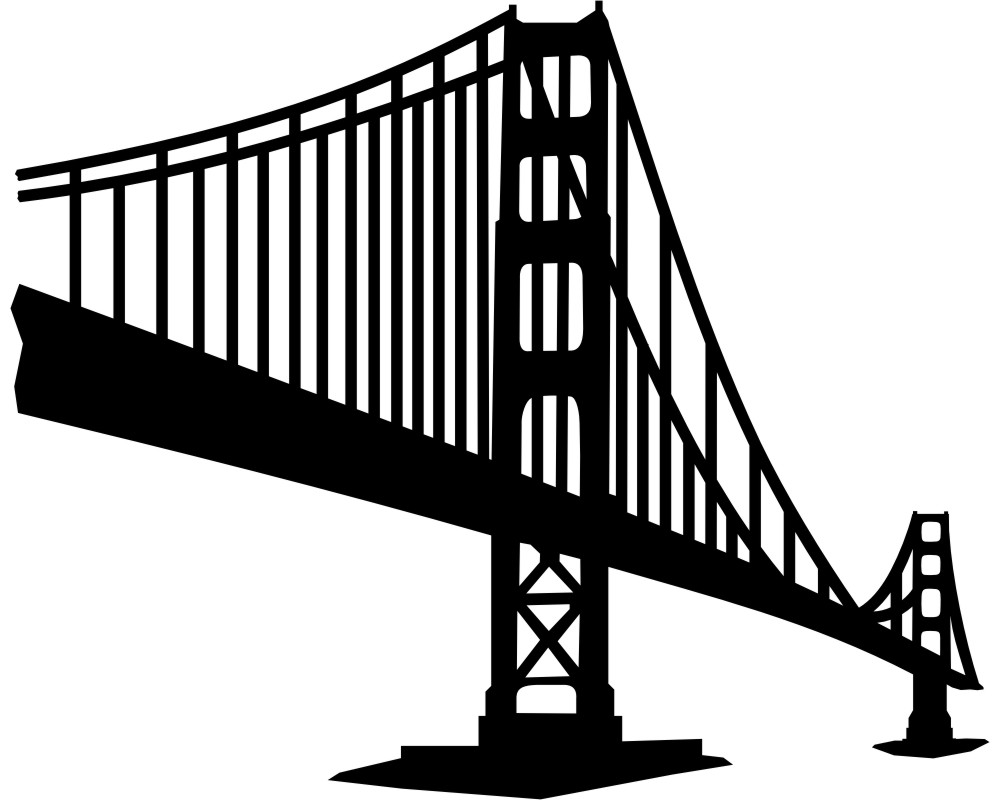 1000x800 Golden Gate Bridge Wandtattoo Skyline Wandtattoo