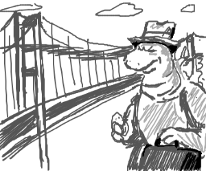 300x250 2037 Godzilla Visits Golden Gate Bridge