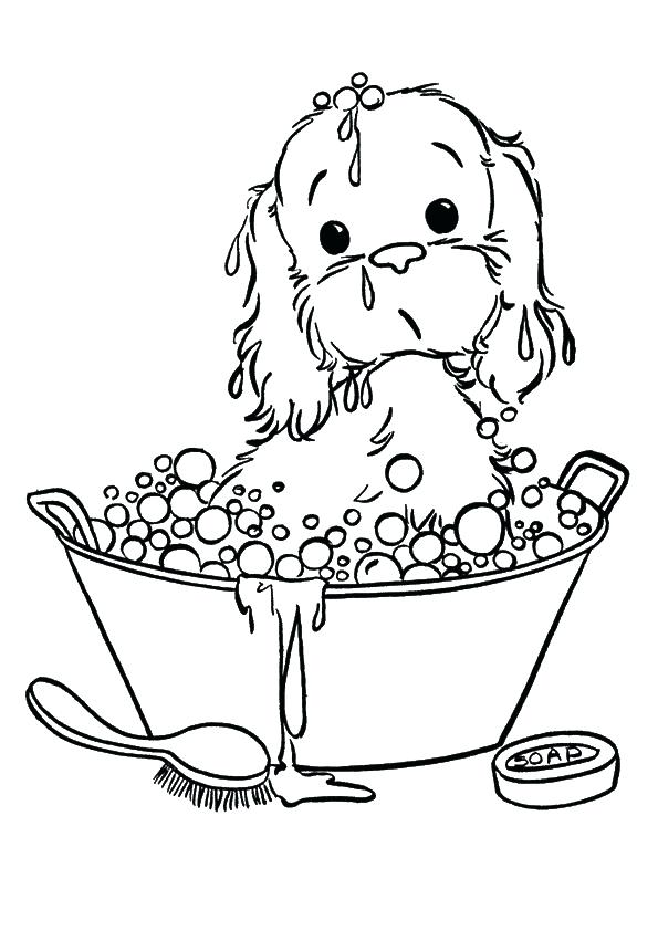 595x842 Puppy Coloring Pages As Well Click To See Printable Versi