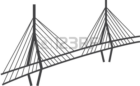 450x277 Simple Drawing Of Historical George Washington Bridge In New