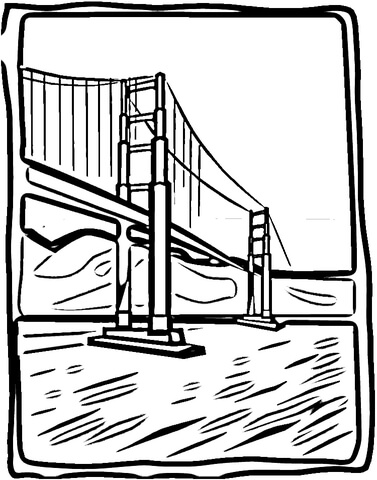 377x480 Golden Bridge Coloring Page Free Printable Coloring Pages