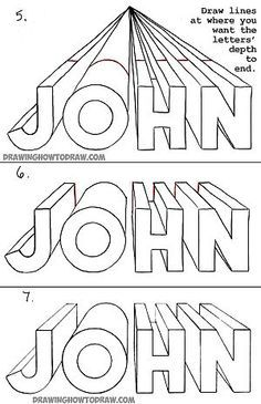 236x365 How To Draw Your Name With A One Point Perspective In Intro To Art