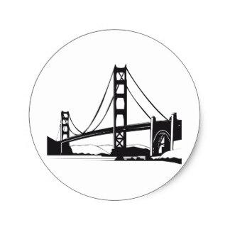 324x324 Golden Gate Bridge Stickers Zazzle