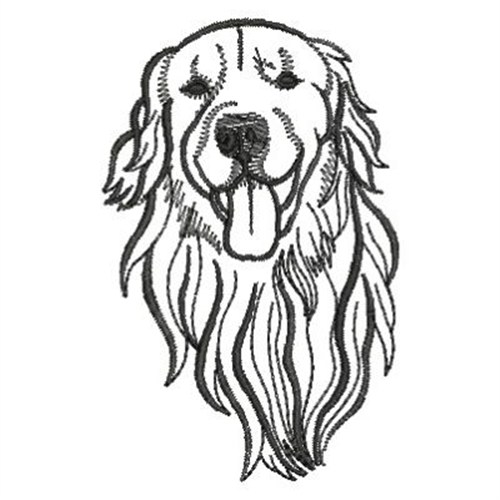 500x500 Golden Retriever Embroidery Designs, Machine Embroidery Designs