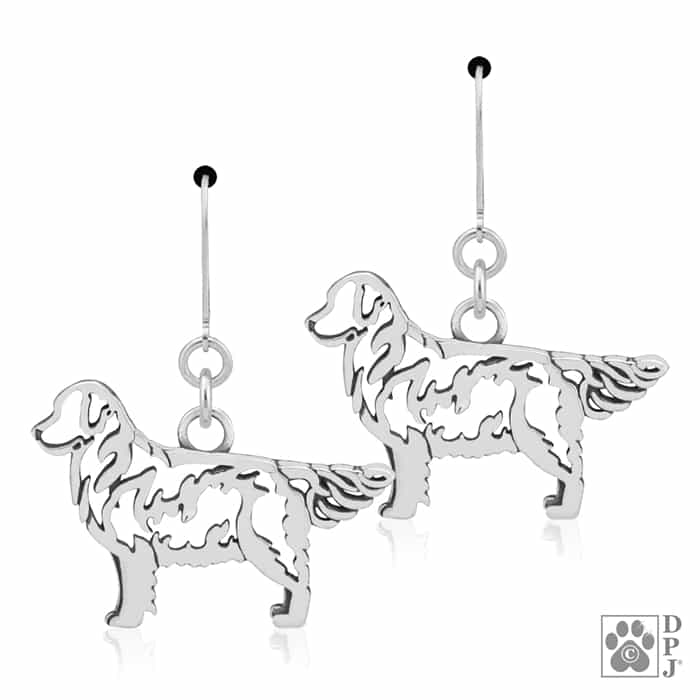 700x700 Sterling Silver Golden Retriever Dog Breed Jewelry, Golden