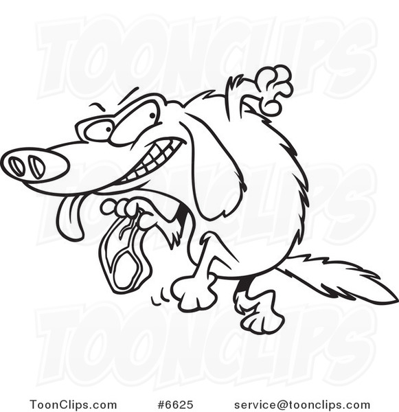 581x600 Cartoon Black And White Line Drawing Of A Golden Retriever