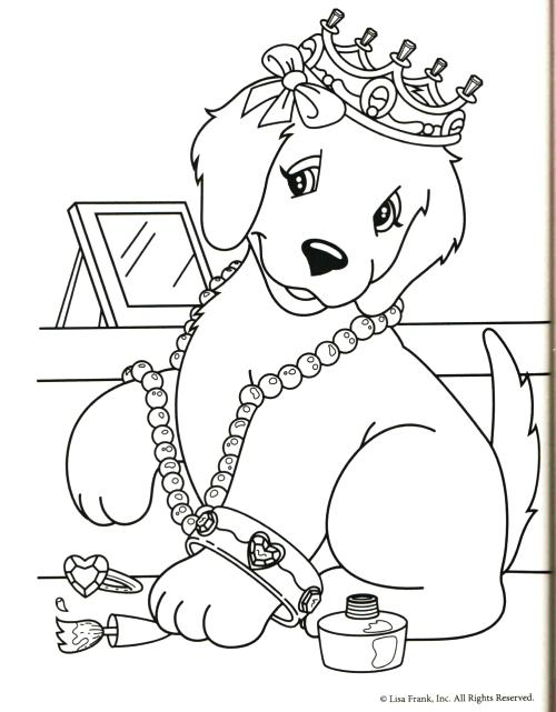 500x641 Golden Retriever Coloring Pages Free Printable Coloring Page