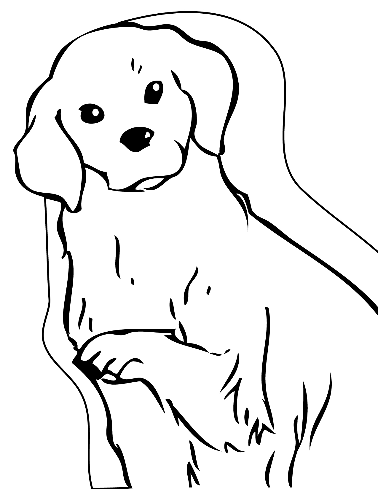 1275x1650 Download Coloring Pages Draw A Golden Retriever