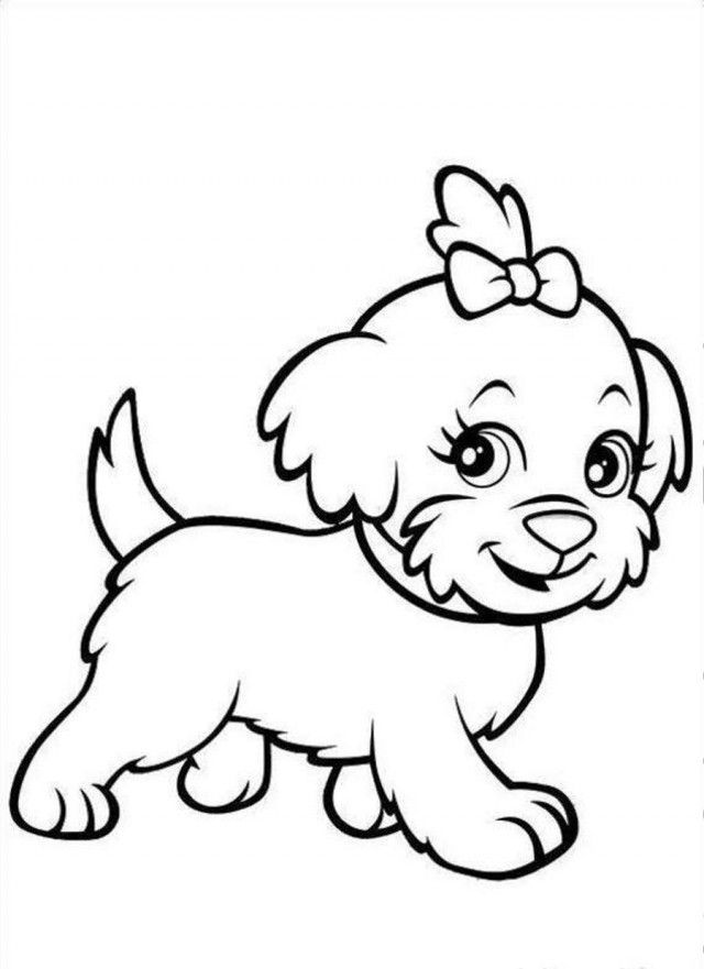 640x881 Golden Retriever Puppy Coloring Pages