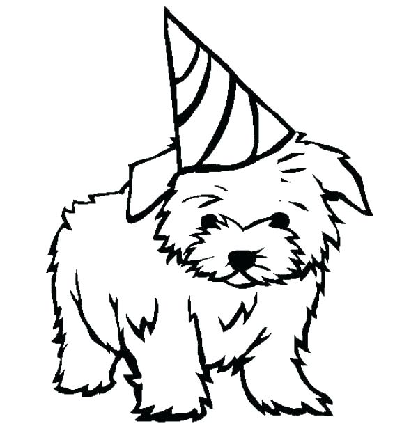 600x612 Puppy Coloring Pages To Print Puppies Coloring Pages With Gift