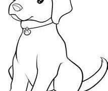 214x180 Cats And Dogs Coloring Pages Labrador Free Lab Puppy Chocolate
