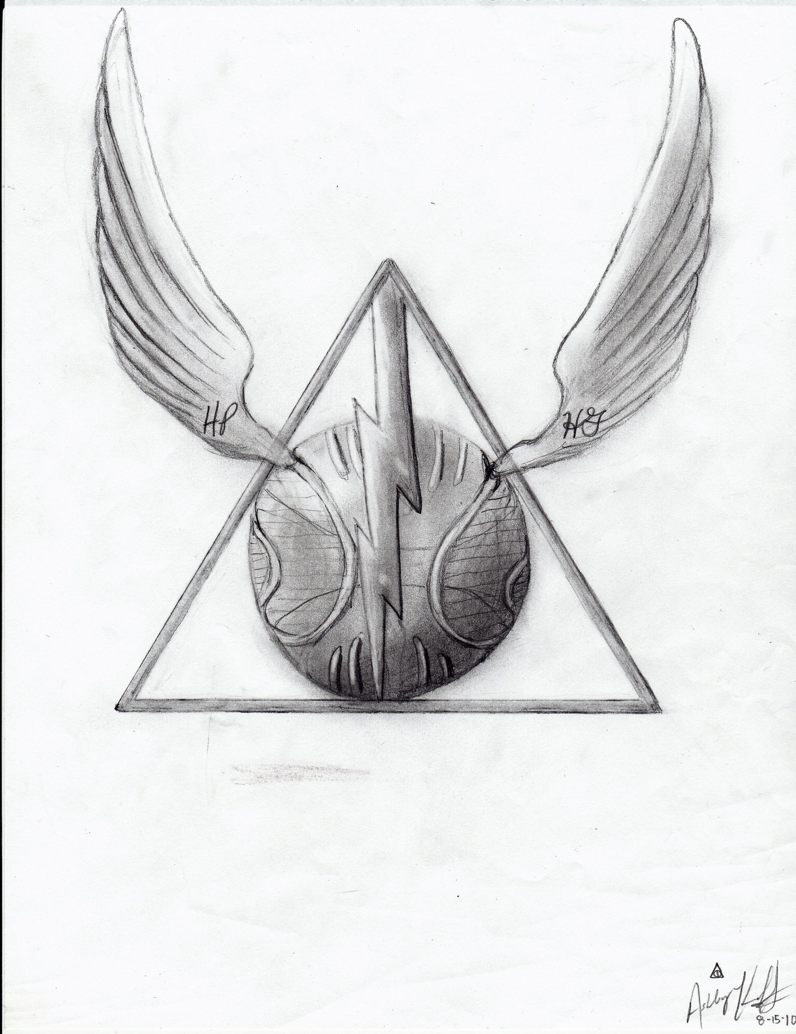 It's just a picture of Simplicity Harry Potter Snitch Drawing