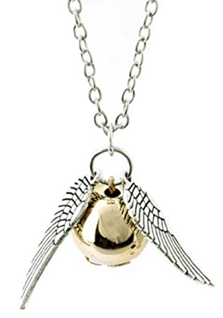 316x450 Necklace Golden Snitch With Silver Wings Quidditch Hogwarts