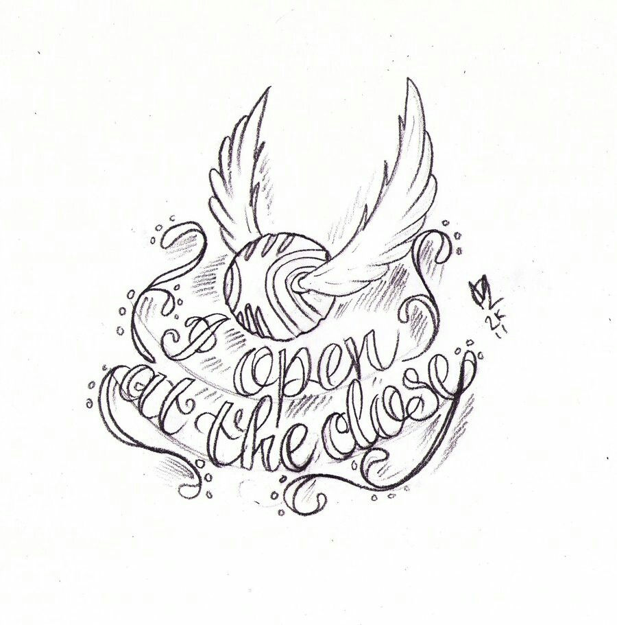 900x911 Snitch Drawing Tattoo's Snitch