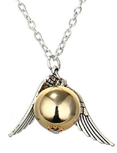 383x500 Steampunk Golden Snitch Necklace Orb Flying Angel