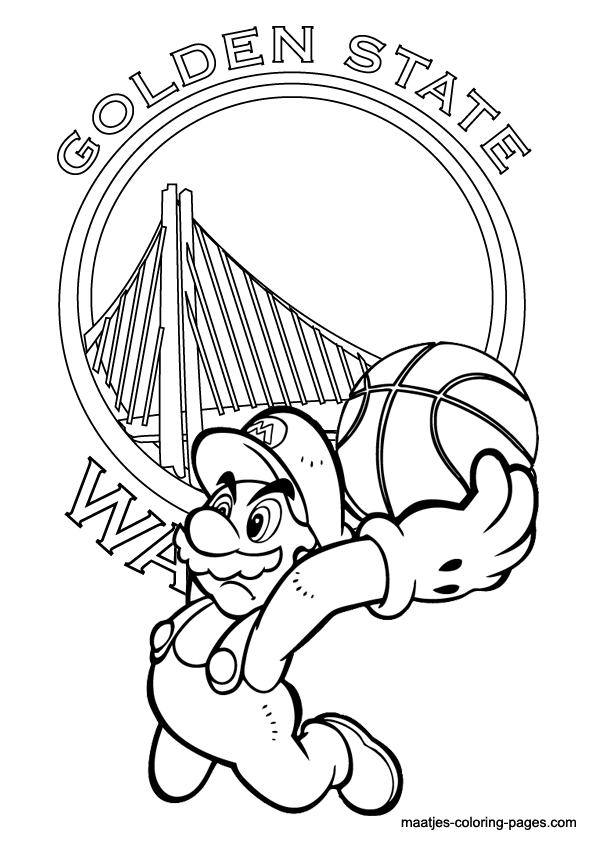 595x842 Golden State Warriors Coloring Pictures