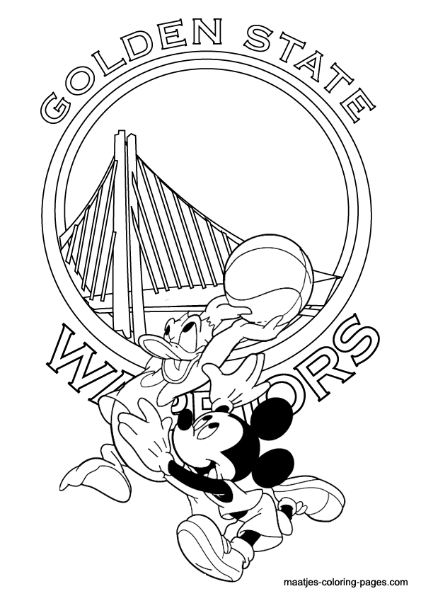 595x842 Golden State Warriors Colouring Pages Pictures To Pin