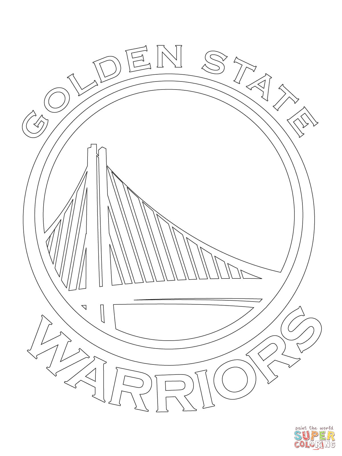 1200x1600 State Warriors Logo Coloring Page Free Printable Coloring Pages