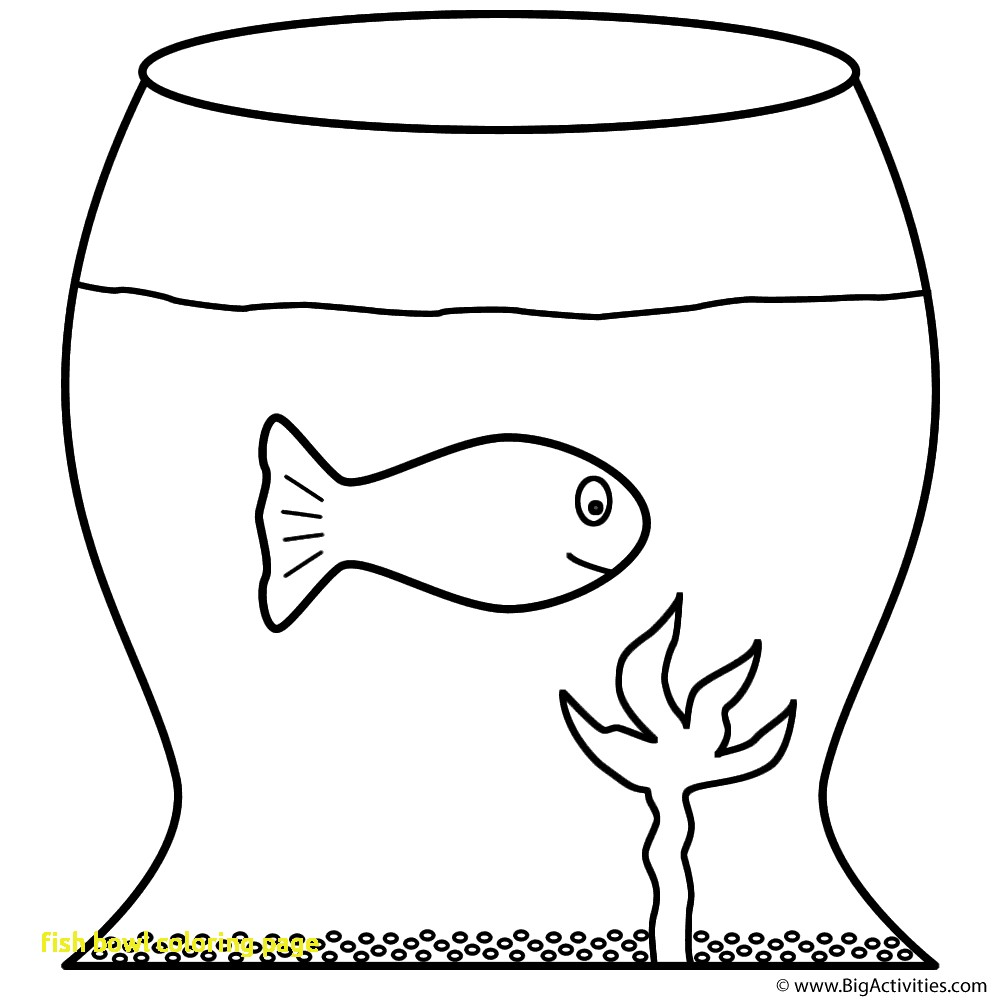 1000x1000 Fish Bowl Coloring Page With Coloring Page Fish Bowl Kids Drawing