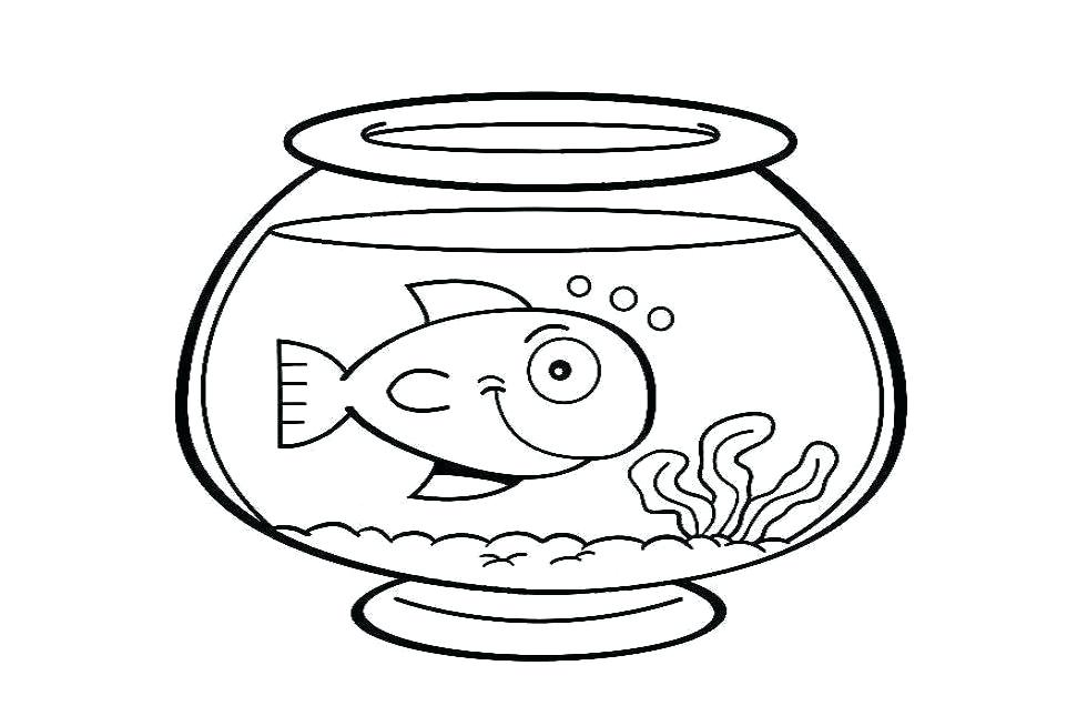 962x654 Fish Bowl Coloring Pages Awesome Fish Bowl Coloring Page Goldfish