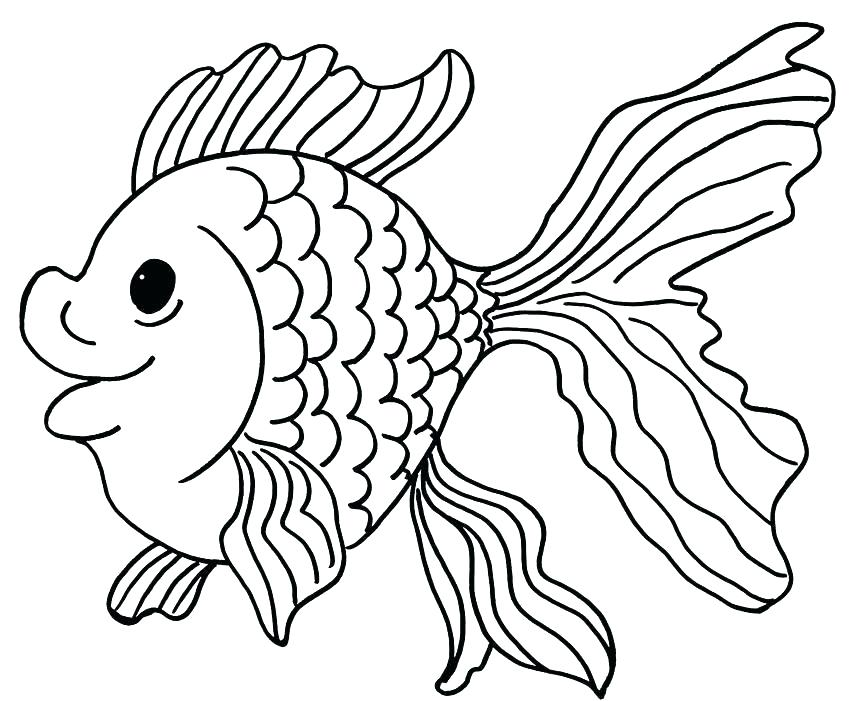 850x701 Fish Bowl Coloring Pages Fish Bowl School Of Fish Outside Fish