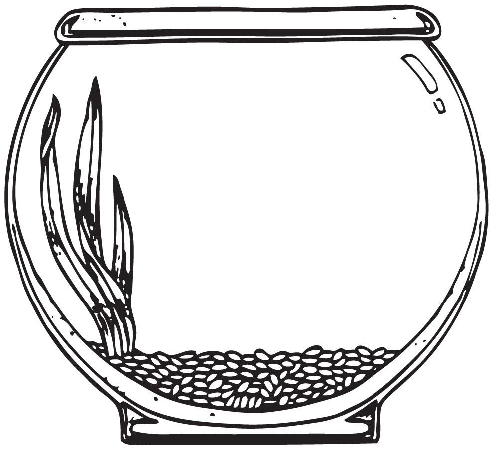 998x909 Fishbowl Shape Coloring Page Goldfish Bowl Coloring Page