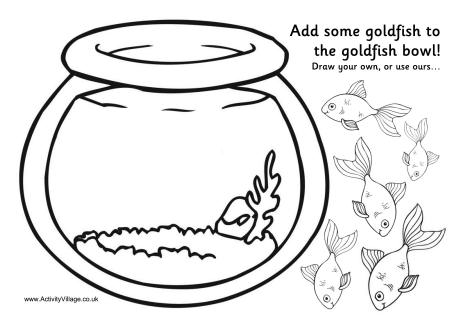 460x325 Goldfish Bowl Activity Printable