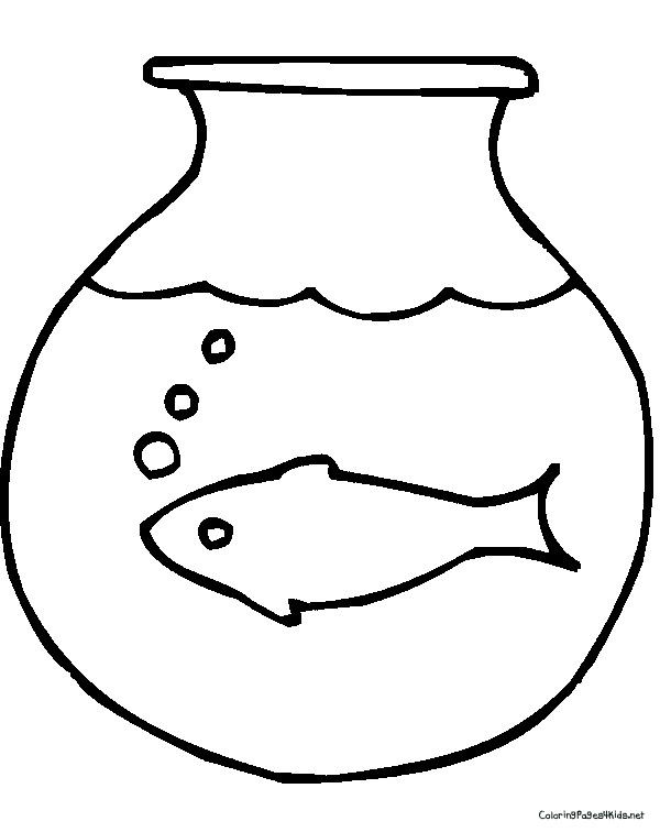 600x756 Goldfish Coloring Pages