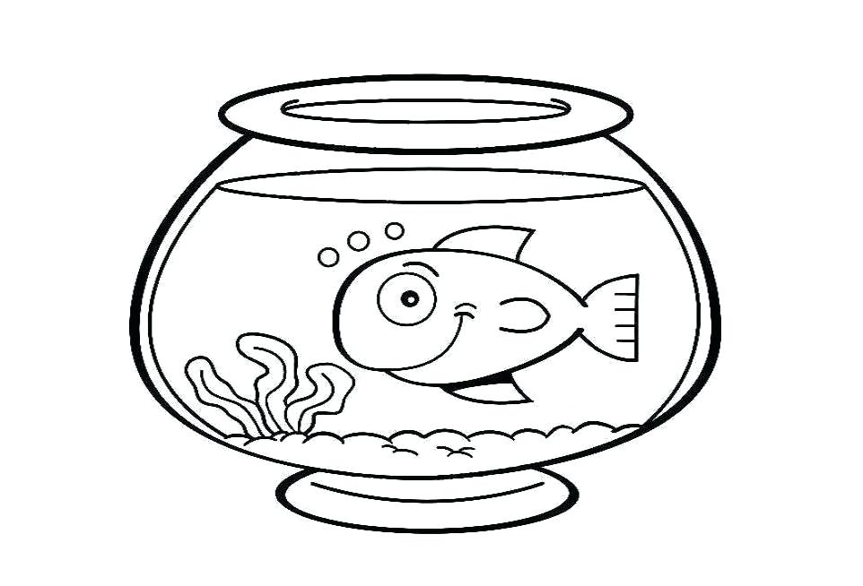 962x654 Here Are Fish Bowl Coloring Page Images Click To See Printable
